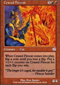 Crazed Firecat - Foil