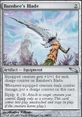 Banshee's Blade - Foil on Channel Fireball