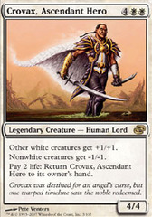 Crovax, Ascendant Hero - Foil on Channel Fireball