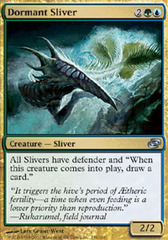 1x Dormant Sliver Light Play English Planar Chaos MTG Magic