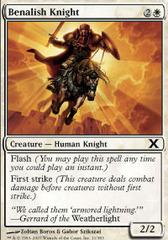 Benalish Knight - Foil on Channel Fireball