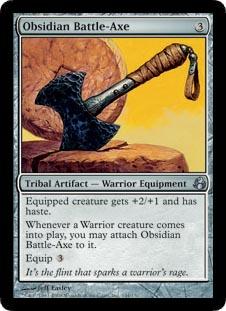 Obsidian Battle-Axe - Foil