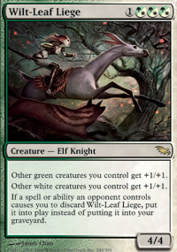 1x MTG Modern Masters 2015 Wilt-Leaf Liege Light Play English Foil
