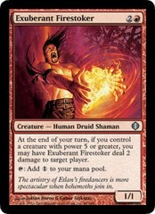 Exuberant Firestoker - Foil on Channel Fireball