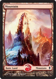 Mountain (244) - Full Art - Foil