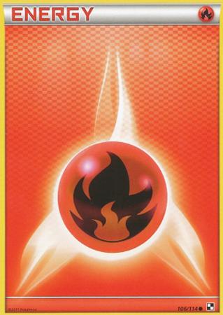Fire Energy - 106/114 - Common - Reverse Holo