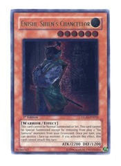 Enishi, Shien's Chancellor - GLAS-EN032 - Ultimate Rare - Unlimited Edition on Channel Fireball
