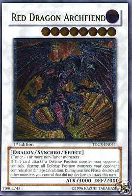 Red Dragon Archfiend - TDGS-EN041 - Ultimate Rare - Unlimited Edition