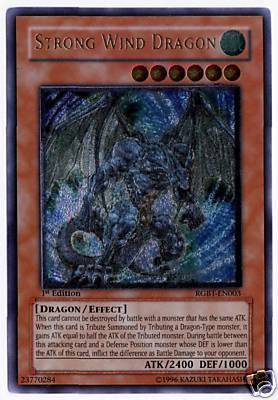 RGBT-EN003 Yu Gi Oh Strong Wind Dragon 1st Edition MINT Ultimate Rare