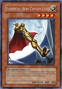 Elemental Hero Captain Gold - DP06-EN004 - Rare - Unlimited Edition
