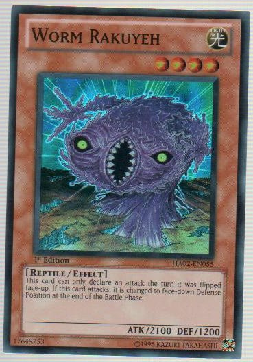 Worm Rakuyeh - HA02-EN055 - Super Rare - Unlimited Edition