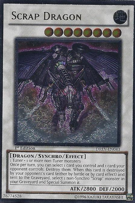 Ultimate Rare Scrap Dragon DREV-EN043 Unlimited New Duelist Revolution