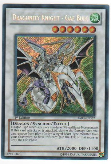 Dragunity Knight - Gae Bulg - HA03-EN057 - Secret Rare - Unlimited Edition