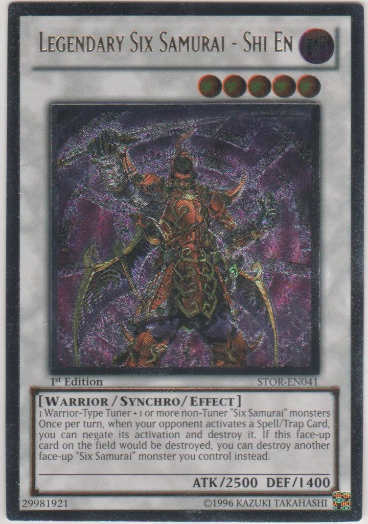 Legendary Six Samurai - Shi En - STOR-EN041 - Ultimate Rare - Unlimited Edition