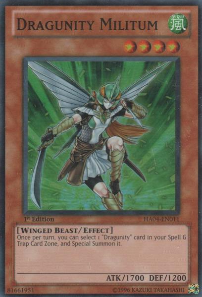 Dragunity Militum - HA04-EN011 - Super Rare - Unlimited Edition