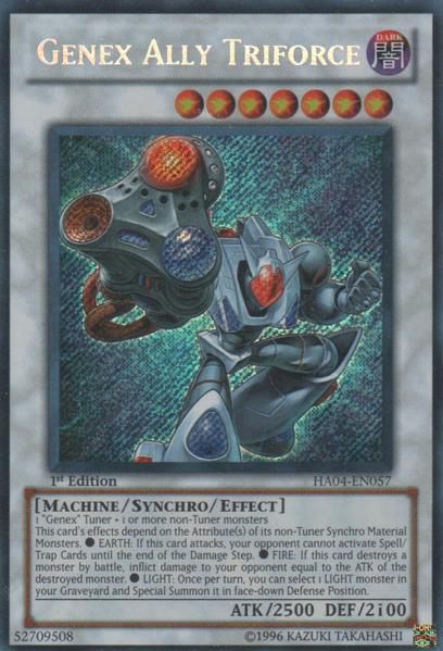 Genex Ally Triforce - HA04-EN057 - Secret Rare - Unlimited Edition