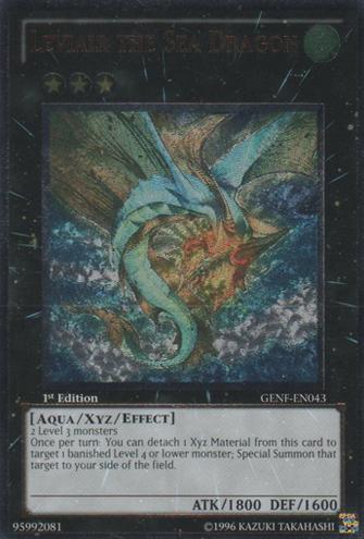 Leviair the Sea Dragon - GENF-EN043 - Ultimate Rare - Unlimited Edition