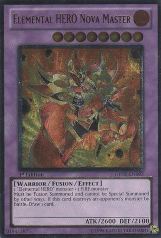 Elemental HERO Nova Master - GENF-EN093 - Ultimate Rare - Unlimited Edition
