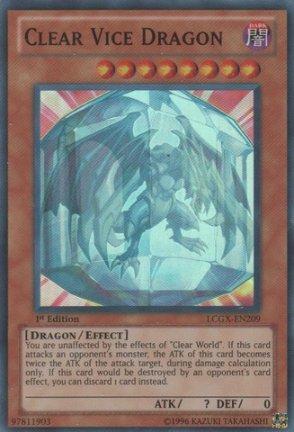 Clear Vice Dragon - LCGX-EN209 - Super Rare - 1st Edition