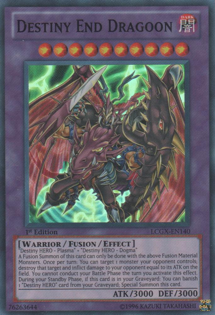Destiny End Dragoon - LCGX-EN140 - Super Rare - 1st Edition