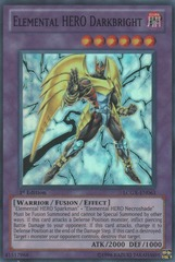 Elemental HERO Darkbright - LCGX-EN063 - Super Rare - 1st Edition