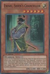 Enishi, Shien's Chancellor - LCGX-EN241 - Super Rare - 1st Edition