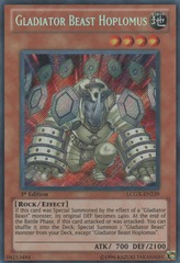 Gladiator Beast Hoplomus - LCGX-EN239 - Secret Rare - 1st Edition