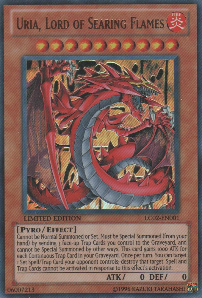 Uria, Lord of Searing Flames - LC02-EN001 - Ultra Rare - Limited Edition - Promo