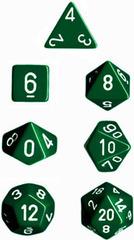Green/White Opaque d10 - PQ1005