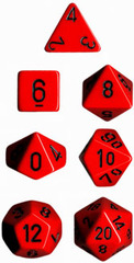 34mm Opaque d20 Red / Black - XQ2014