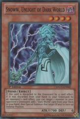 Snoww, Unlight of Dark World - SDGU-EN002 - Super Rare - 1st Edition