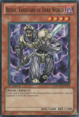 Beiige, Vanguard of Dark World - SDGU-EN010 - Common - 1st Edition