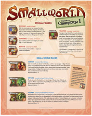 Small World Community's Compendium I (fan expansion for Small World)