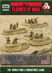 Desert Sandbags Dug-in Markers
