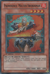 Prominence, Molten Swordsman - HA05-EN010 - Super Rare - 1st Edition