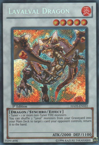 Lavalval Dragon - HA05-EN022 - Secret Rare - 1st Edition