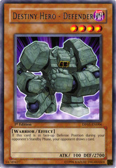 Destiny Hero - Defender - DP05-EN006 - Rare - Unlimited Edition
