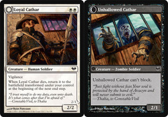 Loyal Cathar // Unhallowed Cathar - Foil on Channel Fireball