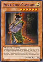 Enishi, Shien's Chancellor - Purple - DL12-EN009 - Rare - Promo Edition on Channel Fireball