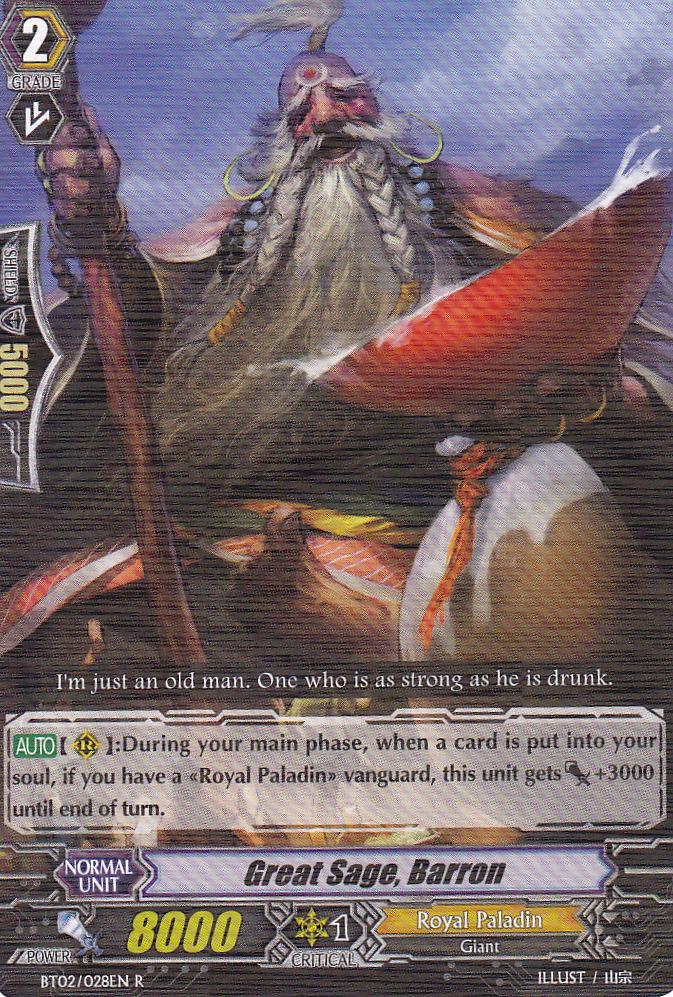 Great Sage Barron - BT02/028EN - R