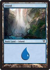 Island (233) - Foil on Channel Fireball
