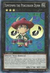 Temtempo the Percussion Djinn - YS12-EN041 - Super Rare - 1st Edition on Channel Fireball