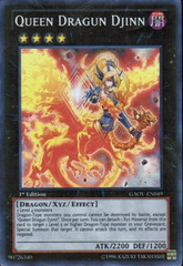 Queen Dragun Djinn - GAOV-EN049 - Super Rare - 1st Edition