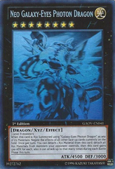 Neo Galaxy-Eyes Photon Dragon - GAOV-EN041 - Ghost Rare - 1st Edition