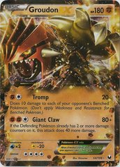 Groudon-EX - 54/108 - Rare Holo EX on Channel Fireball