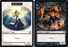 Angel/Demon - Token (White - Black) Double-Faced Helvault Promo