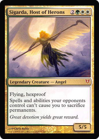 Sigarda, Host of Herons (Oversized Helvault Promo Foil)