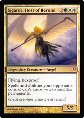 OVERSIZED Sigarda, Host of Herons Foil Helvault Promo