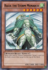 Raiza the Storm Monarch - BP01-EN015 - Rare - 1st Edition