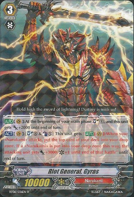 Riot General, Gyras - BT06/036EN - R - Cardfight! Vanguard